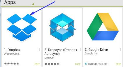 how to open stored app file in dropbox