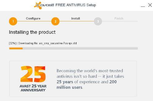 Installing Avast Free Antivirus
