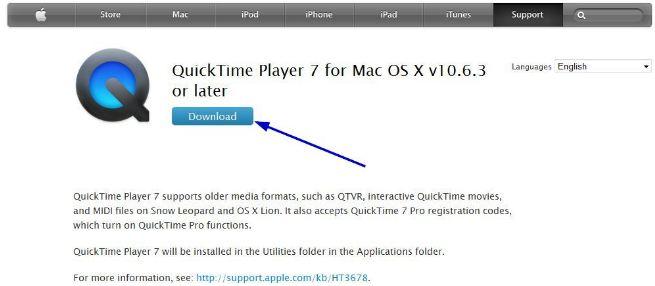 Quicktime ipad
