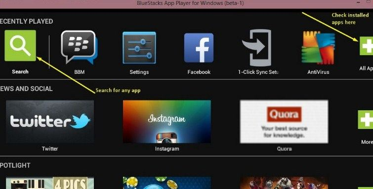 Download latest bluestacks offline installer for windows 7, 8. 1.