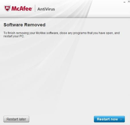 remove mcafee from windows 8