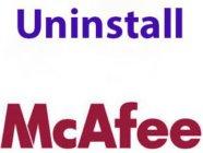 uninstall mcafee windows 8.1