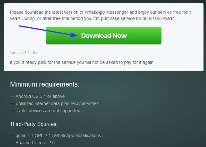 WhatsApp Free Download For Samsung Galaxy, Samsung Champ, Star