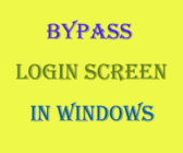 bypass logon screen in windows 8.1