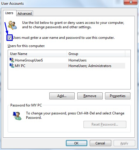 bypass logon screen in windows 7