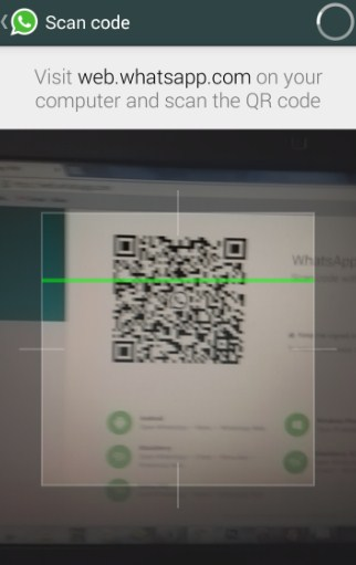 scan code of whatsapp