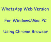 whatsapp web version for mac pc