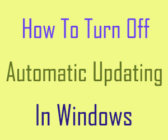 turn off automatic updating in windows