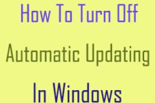 How To Turn Off or Disable Automatic Updating In Windows 8.1/8/7