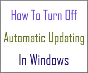 disable automatic updating windows