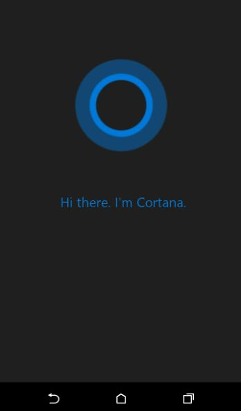 open cortana on android